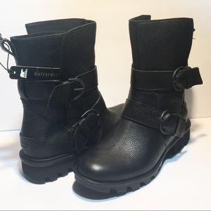 Sorel Phoenix Moto Engineer Boot-Black - 6 - NWOB